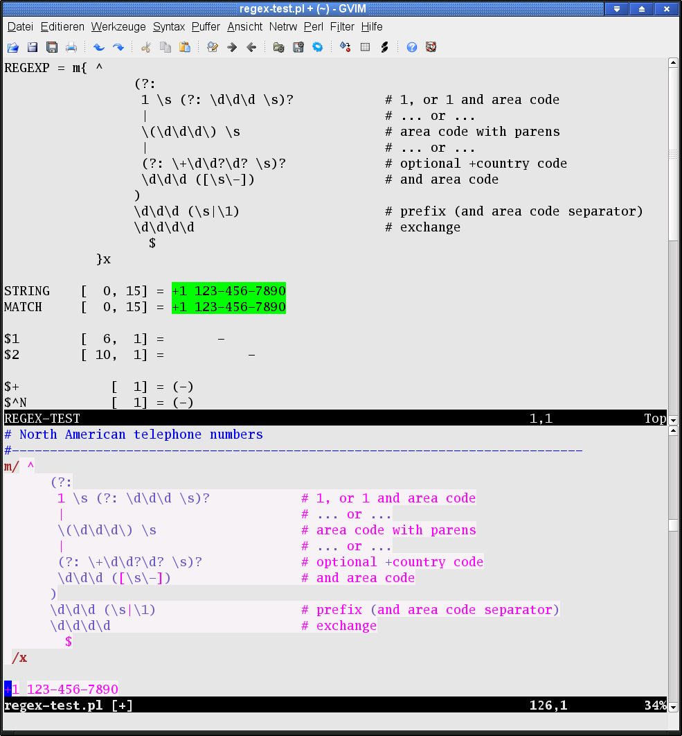 perl regular expression  tester